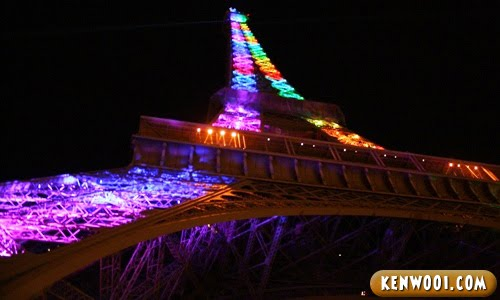 paris eiffel tower colour performance