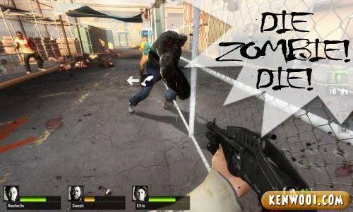 left 4 dead 2 zombie die
