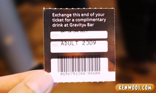 guinness storehouse pint ticket