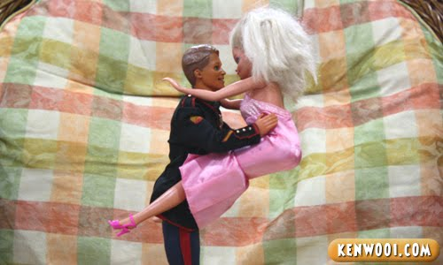 ken carry barbie