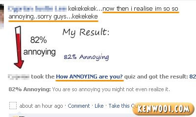 facebook quiz how annoying are you