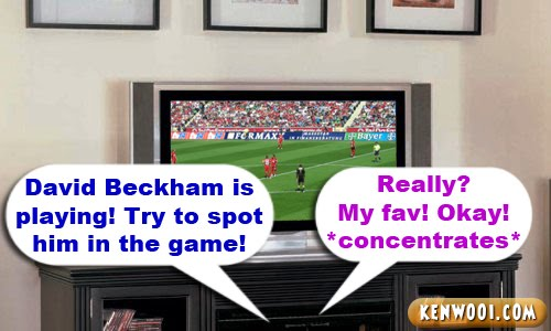 david beckham on tv