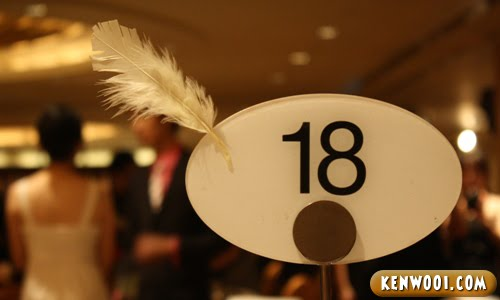 table number 18