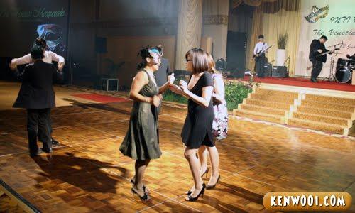ladies dancing on dance floor