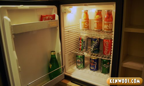 hotel nikko fridge