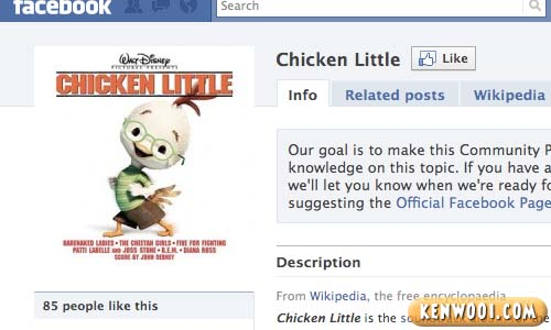 facebook chicken little