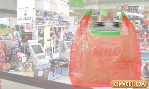 double plastic bags