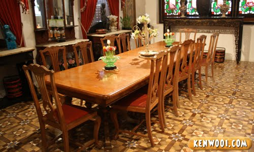 pinang peranakan mansion dining table