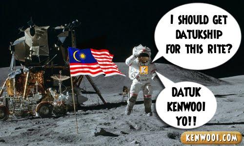malaysia flag on moon