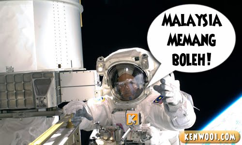 malaysian astronaut in space