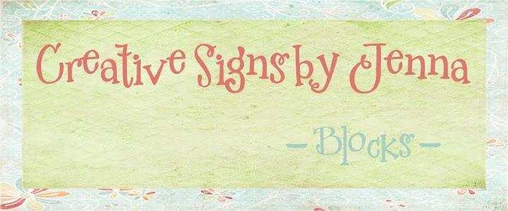 Creative Signs- Blocks