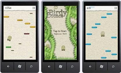 Birdy Bounc WP 7 Games App