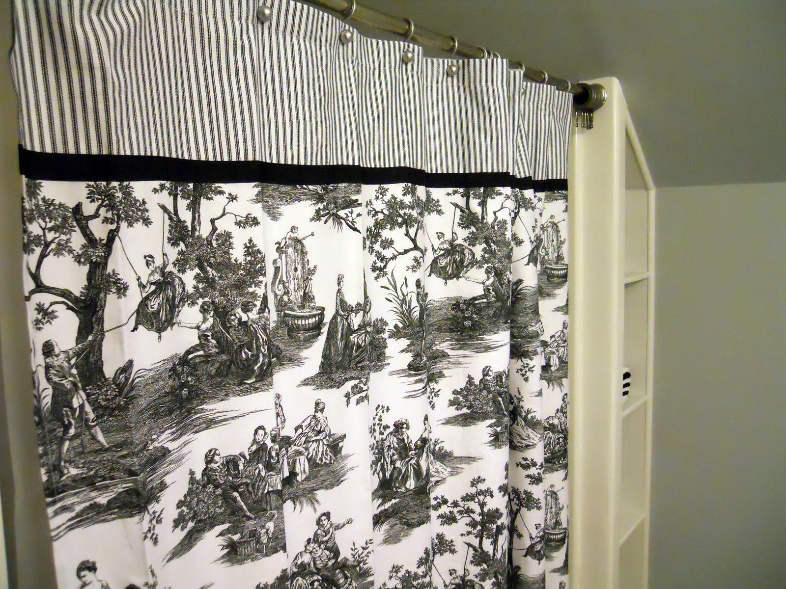 Black And White Ticking Curtains Black and White Toile Comforte