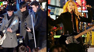 Jonas Brothers y Taylor Swift en el Dick Clark, Nueva York