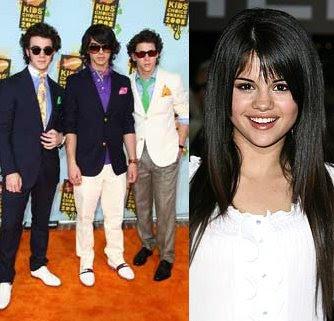 foto Selena Gomez y Jonas Brothers