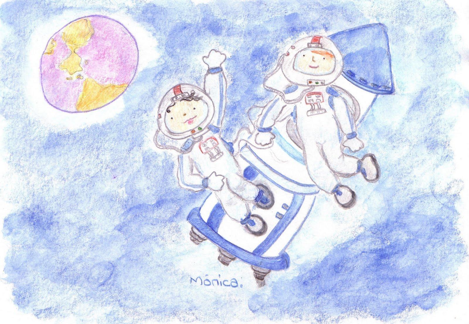 Ilustraciones infantiles Mnica Ortiz Viaje a la luna