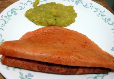 Tomato Dosa with Kadappah by Simple Vegetarian Recipes