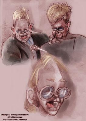 Elton John caricatures