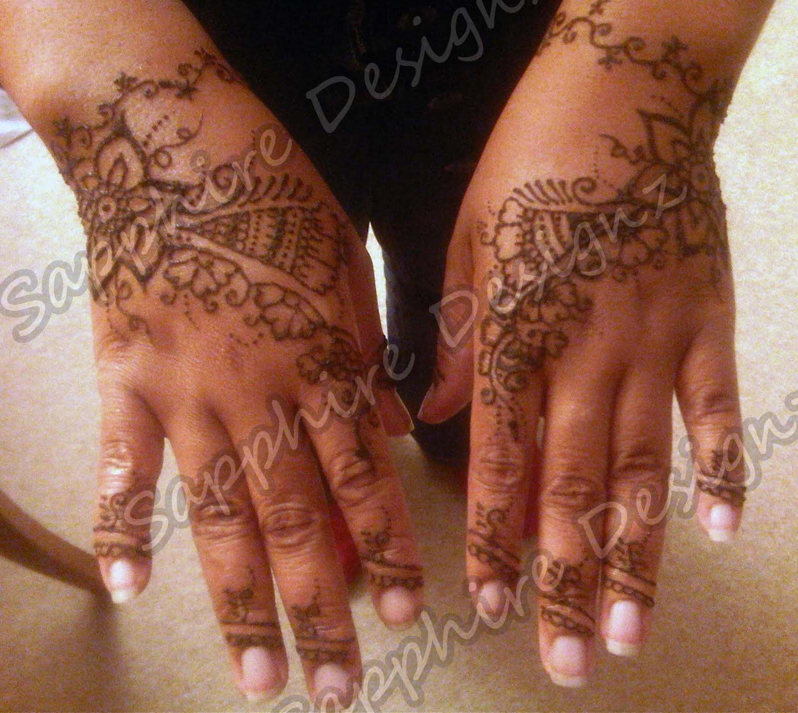 Sapphire Designz Bridal Henna Project Yvonne