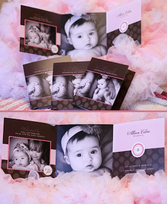 tri-fold baby announcement, holiday card, tri-fold birthday invitation