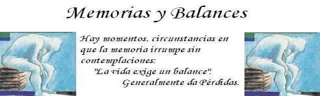 Memorias y Balances