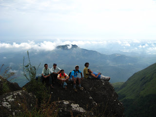 Resting on the way to Chembra Peak