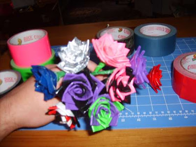Duct tape roses.