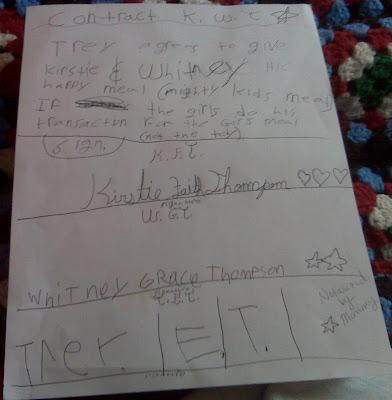 Kid's Contract