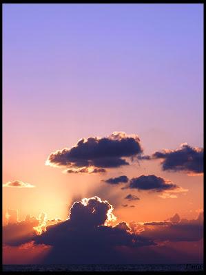закат на море, sunset