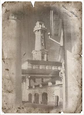 пожарная каланча на старинном фото