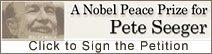 Nobel de la Paz pa Pete Seeger