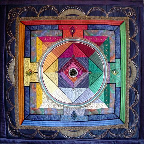 mandala bleu (120x120)