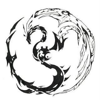 Tribal Tattoo Dragon design