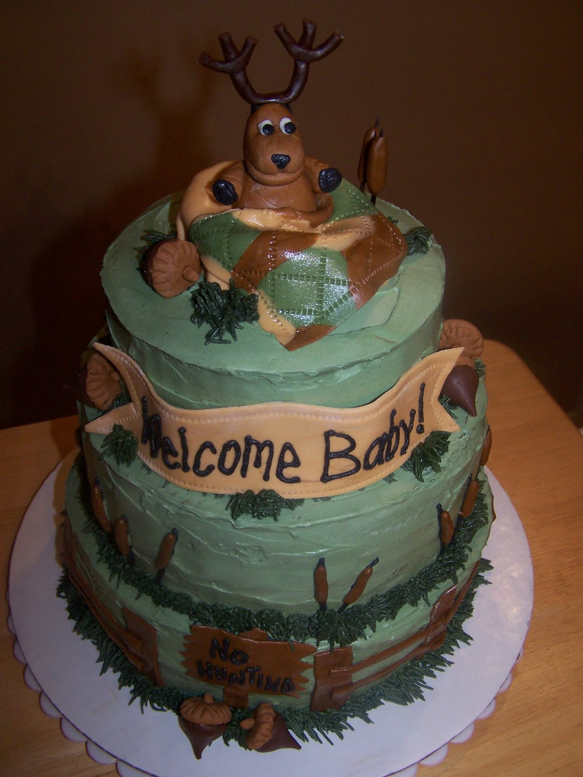 hunting camo baby shower cakes deer hunting theme grooms cake