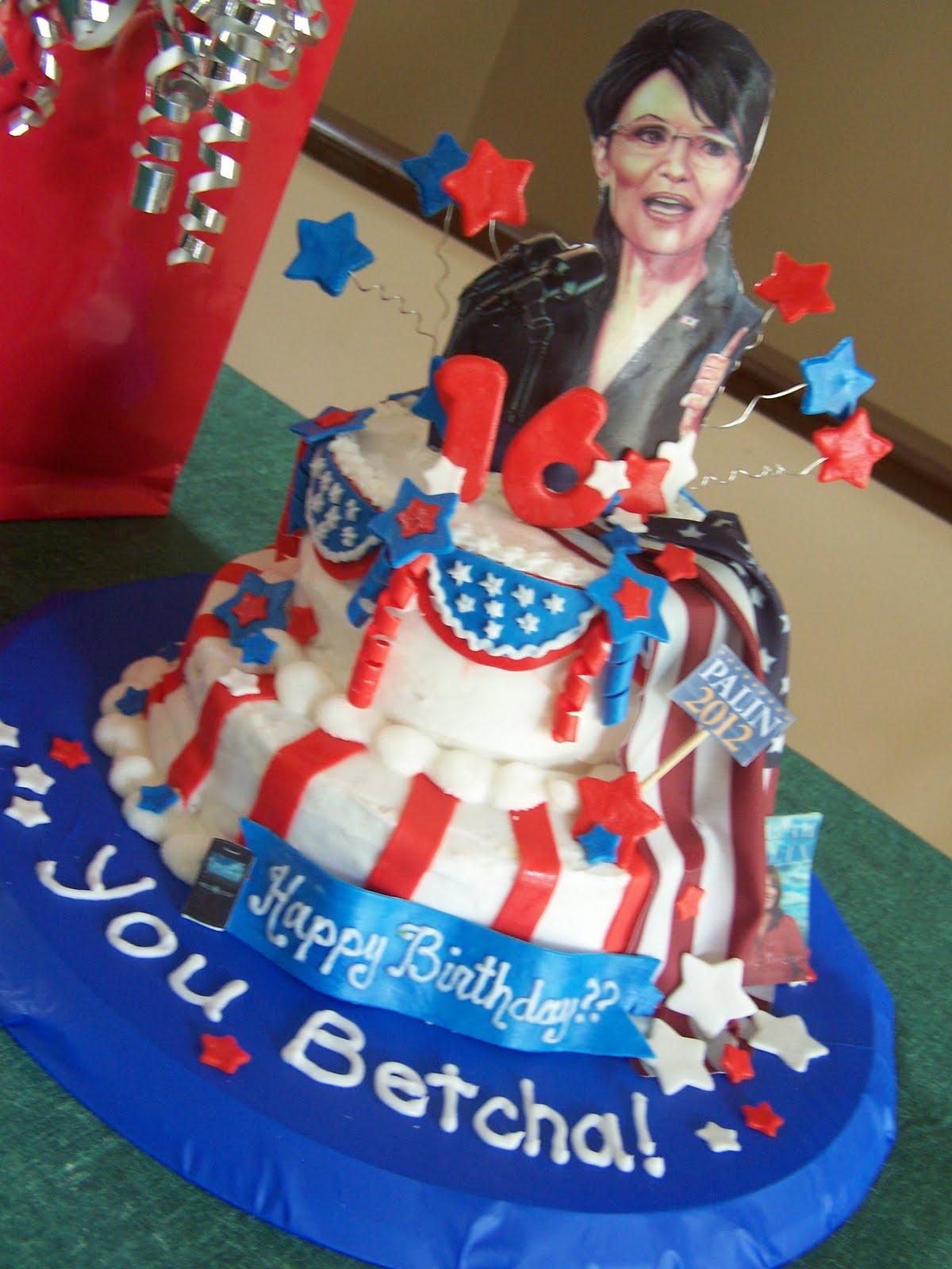 Julie Daly Cakes Sarah Palin Cake