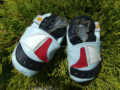 Leather Baby Booties Crib Shoes Girl or Boy 0 6 Months