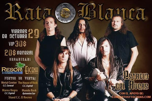 Próximos Conciertos Rock Ecuador.
