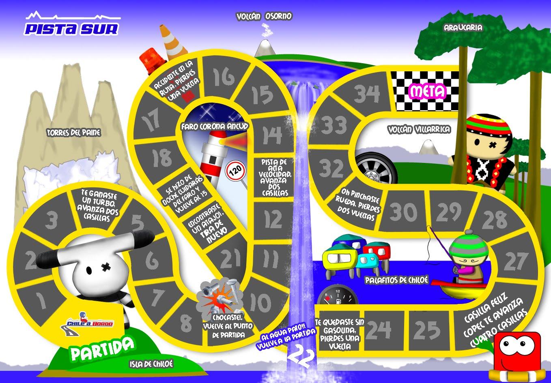 Juegos De Baño Zona Sur:Manuel Zamorano Urzúa – Diseño: Tablero de Juego Zona Sur