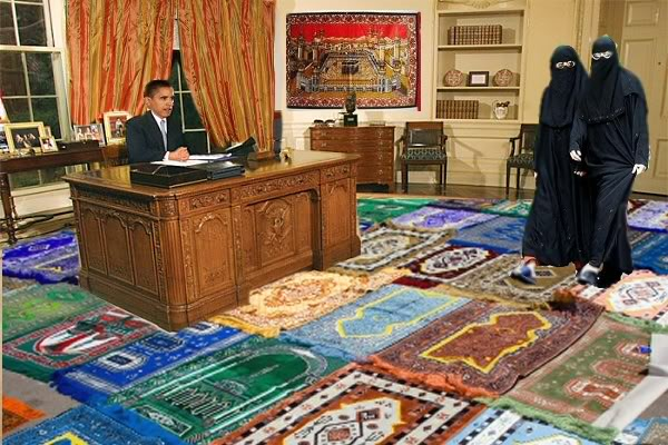 obama  has prayer mats in the white house