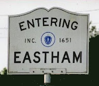 Eastham, Cape Cod, MA sign