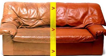 teindre ou raviver le cuir d 39 un canape. Black Bedroom Furniture Sets. Home Design Ideas