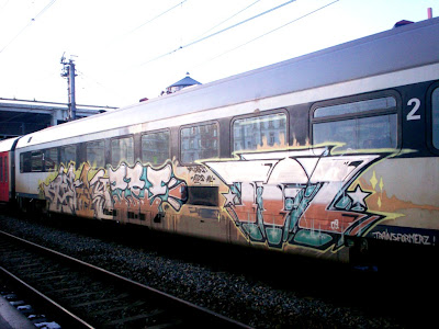 Train graffiti made by trainsformerz