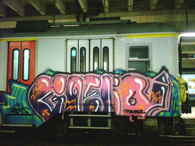 GOEH TDP Crew Valencia Spain train graffiti