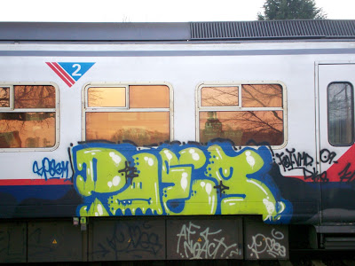 Poes graffiti train