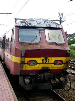Train panel graffiti