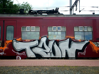 Unknown train graffiti