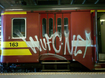 WUFC NER graffiti