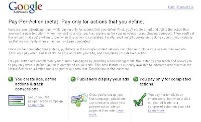 registrazione pay-per-action