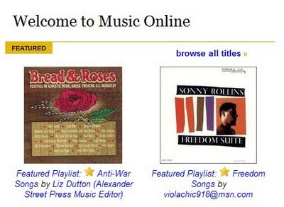 Music Online Database