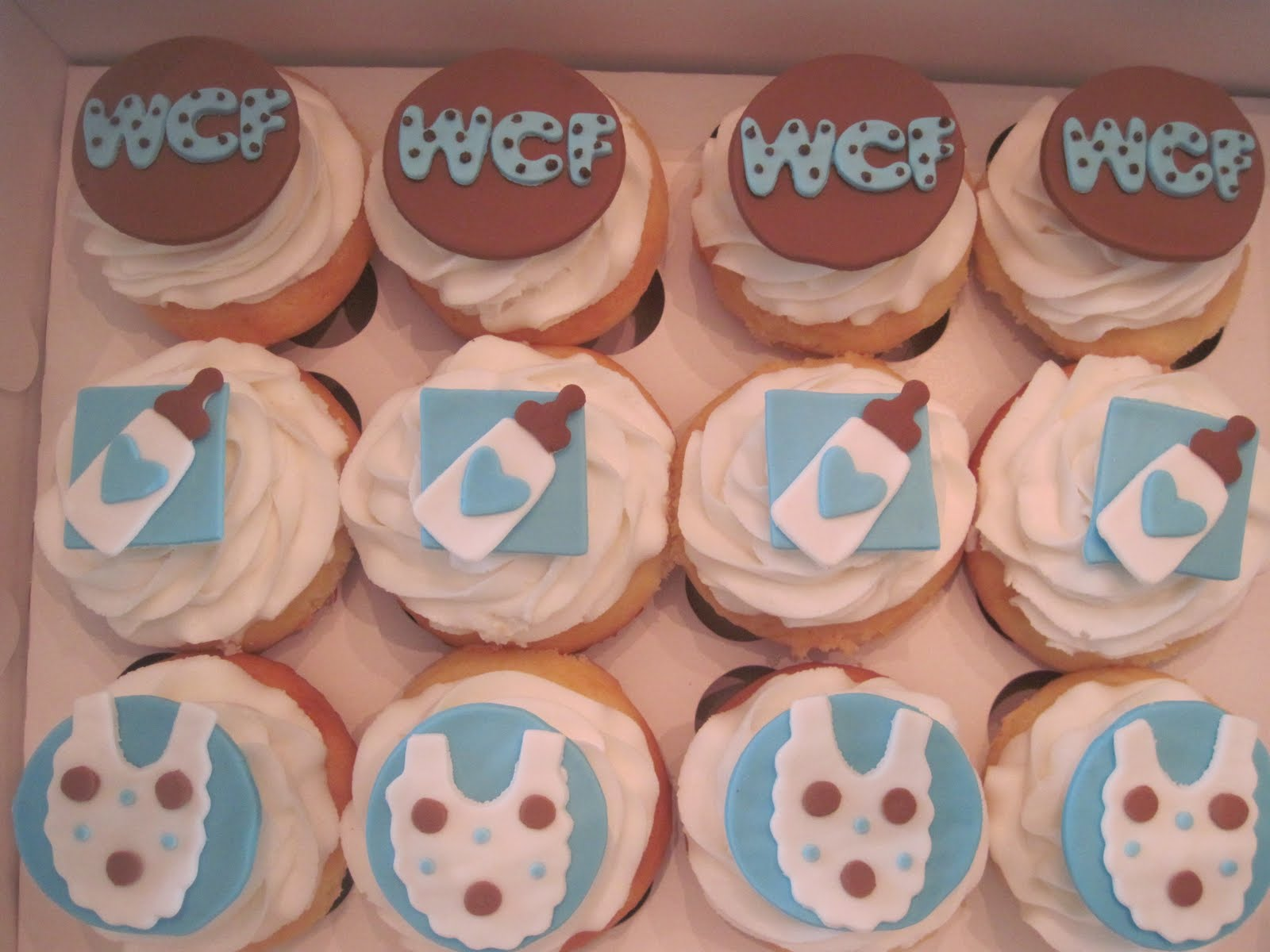 think sweet baby boy shower cupcakes cookies